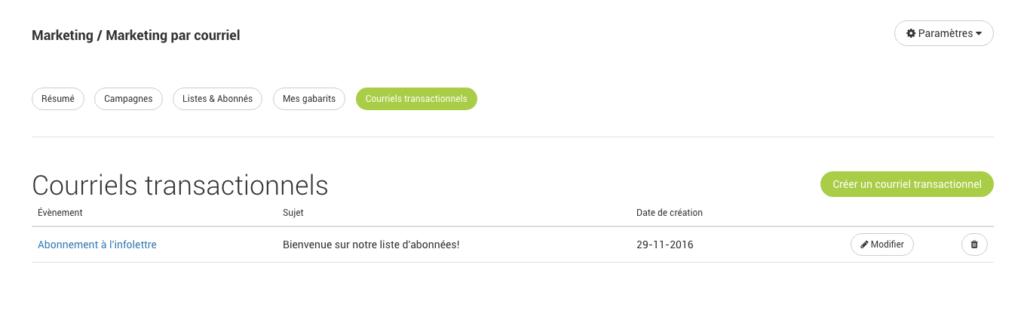 email transactionnel